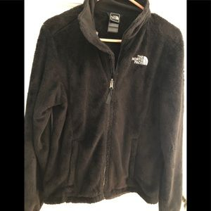 Women's Northface jacket  faux fur black S – P